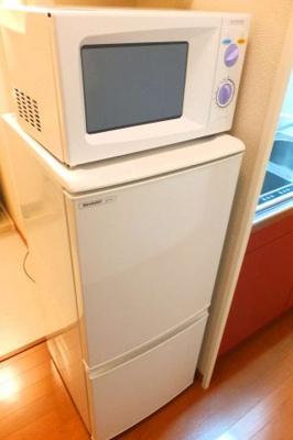 なんと、冷蔵庫・電子レンジも付いています!