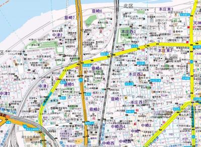 【地図】オリーブコート