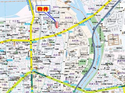 【地図】セレッソコート梅田東