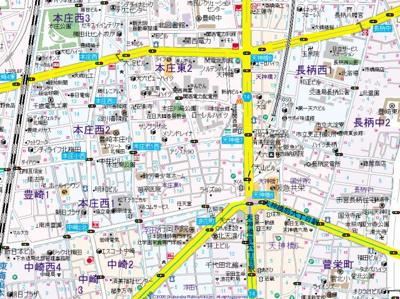 【地図】インザグレイス天神橋