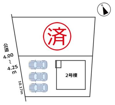 【区画図】Cradlegarden 日進市浅田町第4