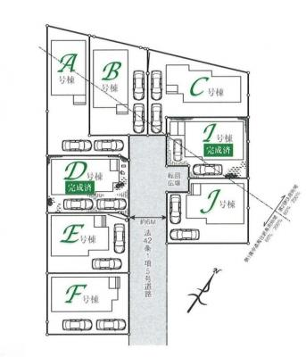 【区画図】入間市小谷田1丁目 全13棟 I号棟
