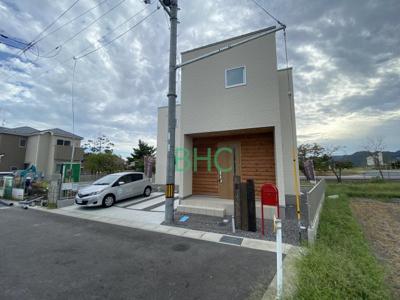 【前面道路含む現地写真】下阪本1丁目 分譲6区画1号地