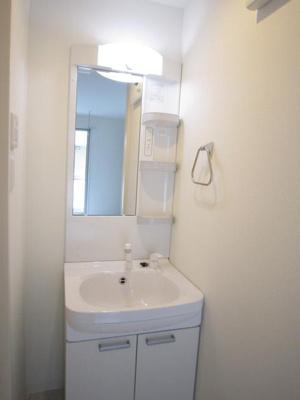 「シャワー付の独立洗面台です」