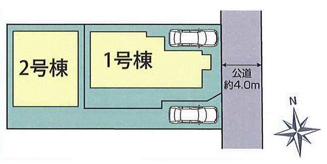 【区画図】昭島市中神町 新築戸建全2棟