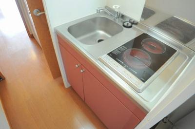 掃除のしやすい調理スペース!