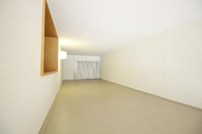 約3帖あるロフト。収納はもちろん、寝室としても活用頂けます。