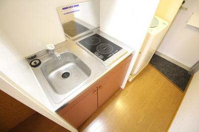ラジエントヒーター使用のキッチンです。