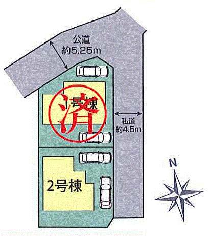 【区画図】あきる野市山田 新築戸建全2棟