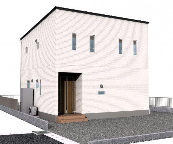 2号地完成時のイメージパースです。2台駐車可能です。