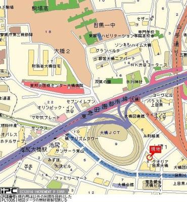 【地図】フラツツ大橋