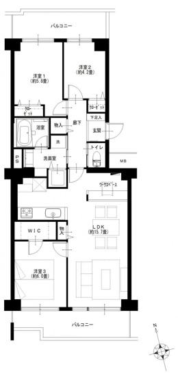 シーアイハイツ和光B号棟:全居室収納が付いた収納豊富な3LDKリノベーション物件です!
