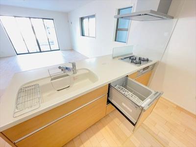 【キッチン】草加市草加5丁目新築戸建て【全2棟】