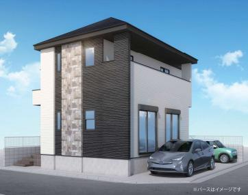 【外観パース】新座市野寺2丁目 新築一戸建 西武池袋線 ひばりが丘
