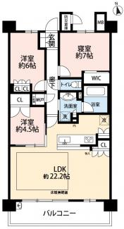LDK22.4帖・床暖房付