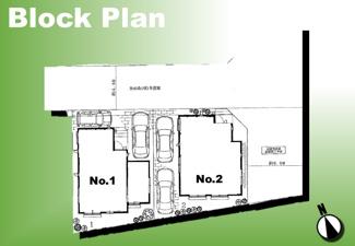 【区画図】足立区東六月町新築戸建て【全2棟】