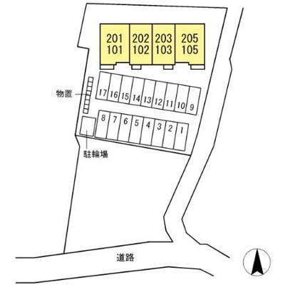 【区画図】(仮)D-room黒石野