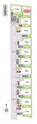 【区画図】立川市西砂町6丁目 新築戸建 全12棟 K号棟