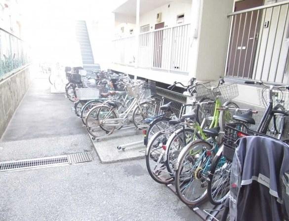 コスモ大島の駐輪場です。