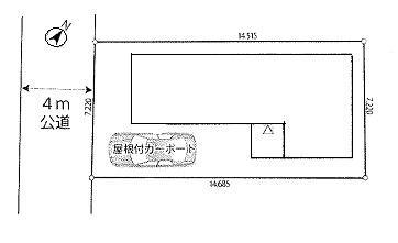 【区画図】羽生市西3丁目 中古戸建