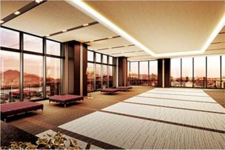 ゲストルームなど共有施設が充実しています
