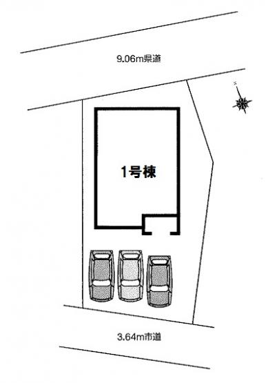 【区画図】羽生市上新郷 新築戸建全1棟