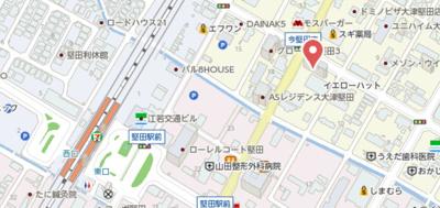 【地図】M'プラザ堅田駅前弐番館