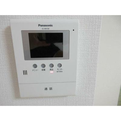 TVモニター付きインターフォンで来訪者を確認できます