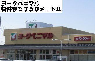 スーパー「ヨークベニマルまで750m」ヨークベニマルまで750m