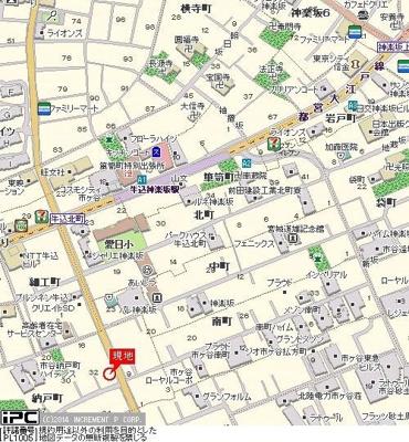 【地図】ガーデンヒルズ市ヶ谷