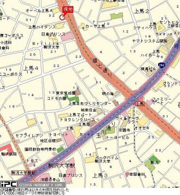 【地図】オーベル上馬B