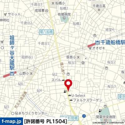 【地図】GENOVIA世田谷桜丘skygarden