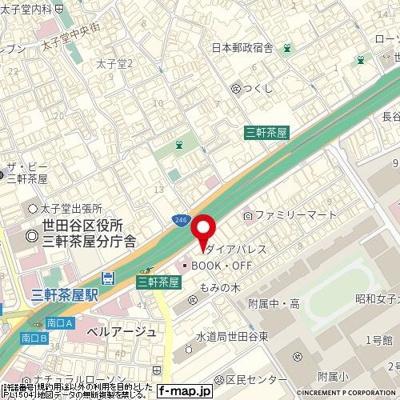 【地図】ダイアパレス三軒茶屋