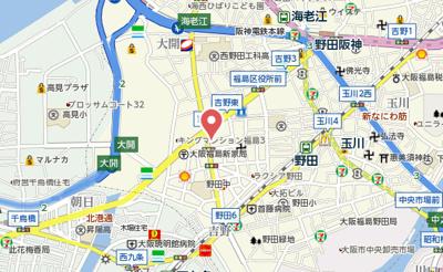 【地図】コスモ梅田WEST
