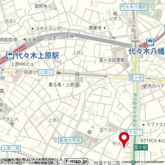【地図】エスコートノヴェル代々木公園
