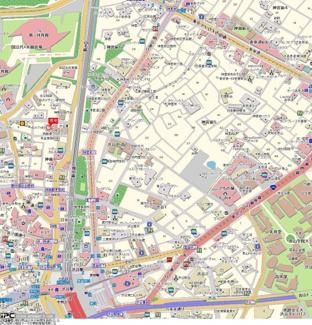 【地図】クオリア神南フラッツ