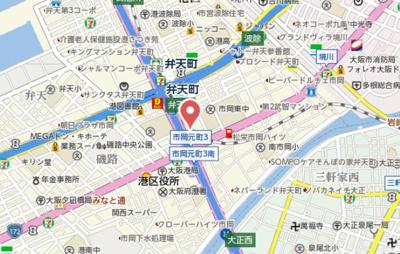 【地図】エスリード弁天町パークプレイス