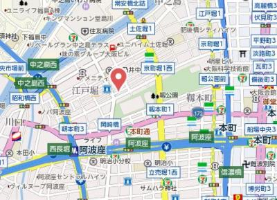 【地図】アーデン京町堀ウエスト