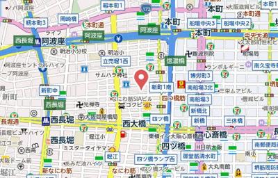 【地図】Primavera Nishi Shinsaibashi