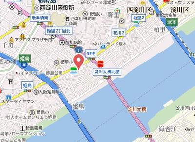 【地図】ララプレイス大阪ウエストゲート