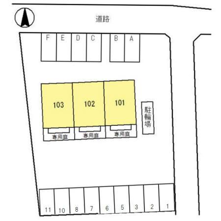 【区画図】Terrasse Inashiro