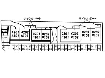 【区画図】グランマスト杉井流Ⅲ C棟