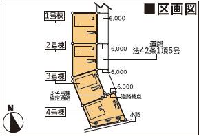 【区画図】新築建売 北上市村崎野第12 3号棟