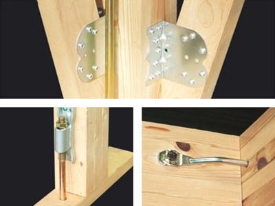 見えない部分で耐震・耐久性を高める「耐震金具」