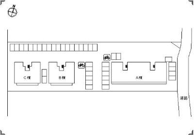 【区画図】ラフィネはまゆう B棟