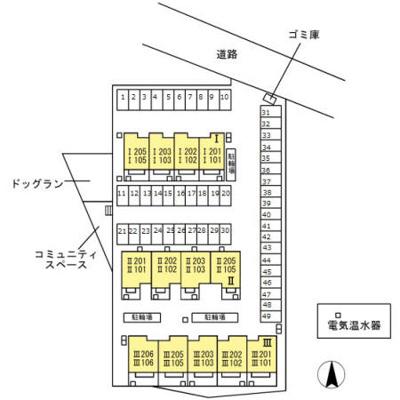 【区画図】コンフォートⅡ