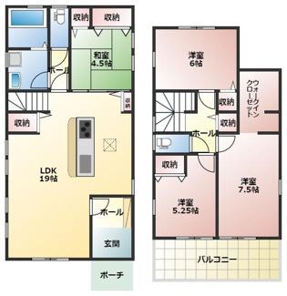 碧南市伊勢町2丁目新築分譲住宅間取りです。