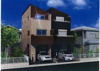 【外観】足立区大谷田1丁目新築戸建て【全2棟】