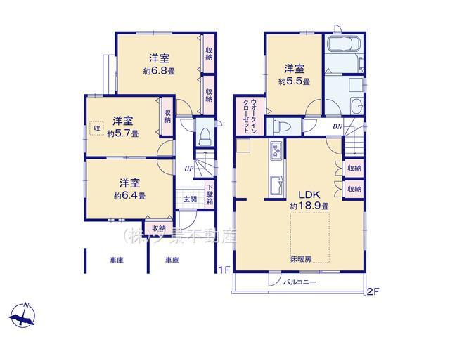 川口市大字里1124-8(A号棟)新築一戸建てブエナタウン