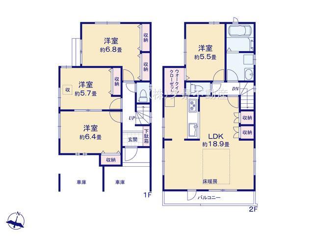 川口市大字里1124-8(B号棟)新築一戸建てブエナタウン